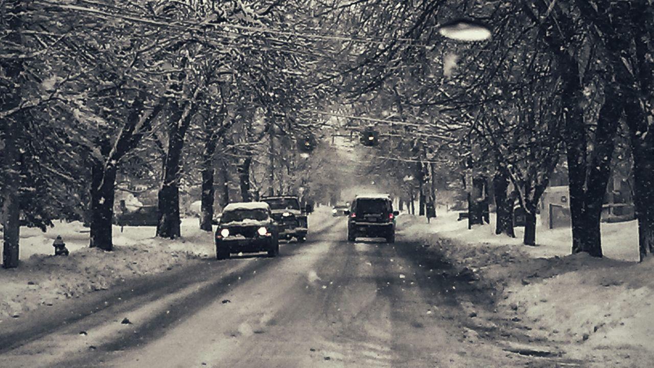 Blackandwhite Photography Driving Ohiowinterweather Wintertime Blizzard 2015 Clevelandgram Clevelandweather