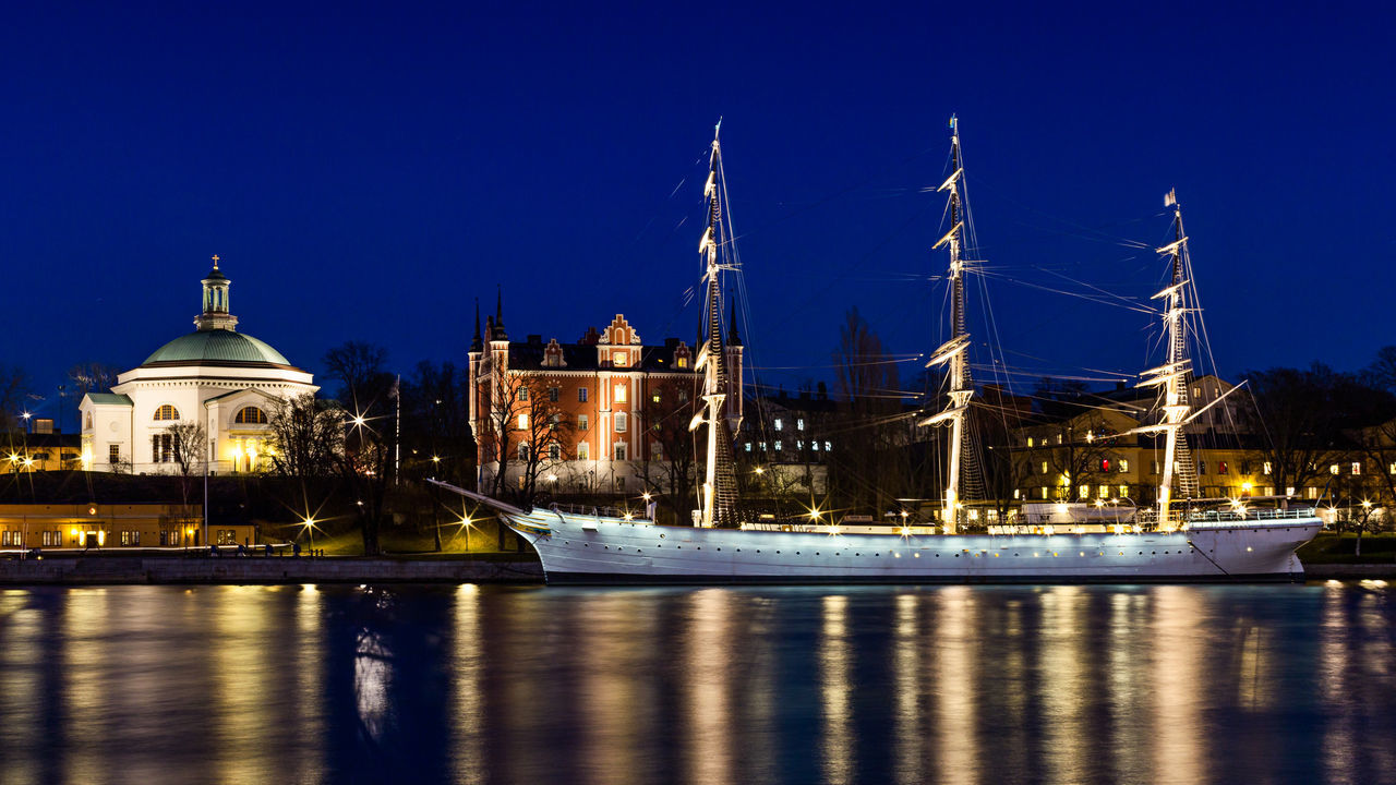 Beautiful stock photos of sweden, Blue, Boat, Christianity, Church