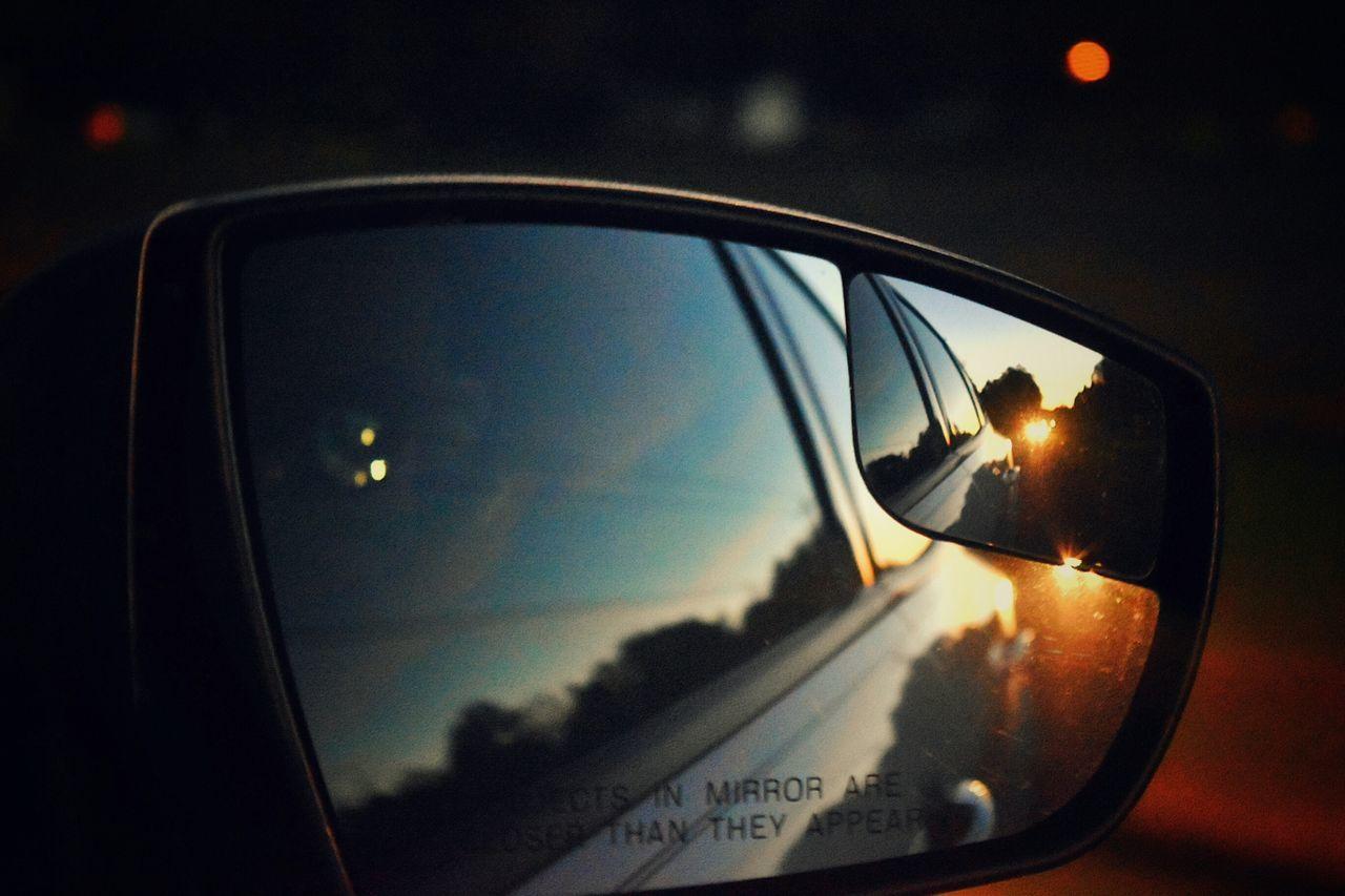 Mirror Side Mirror Shots Tailed Followed Headlights