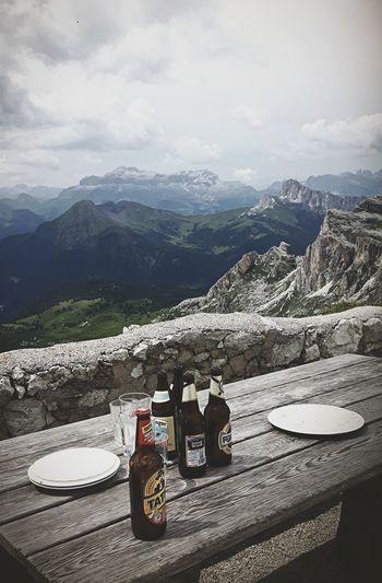 Mountain Day Mountain Range No People Cloud - Sky Landscape Nature Cold Temperature Bier Time Lunch Time! Table Breathing Space EyeEmNewHere Been There.