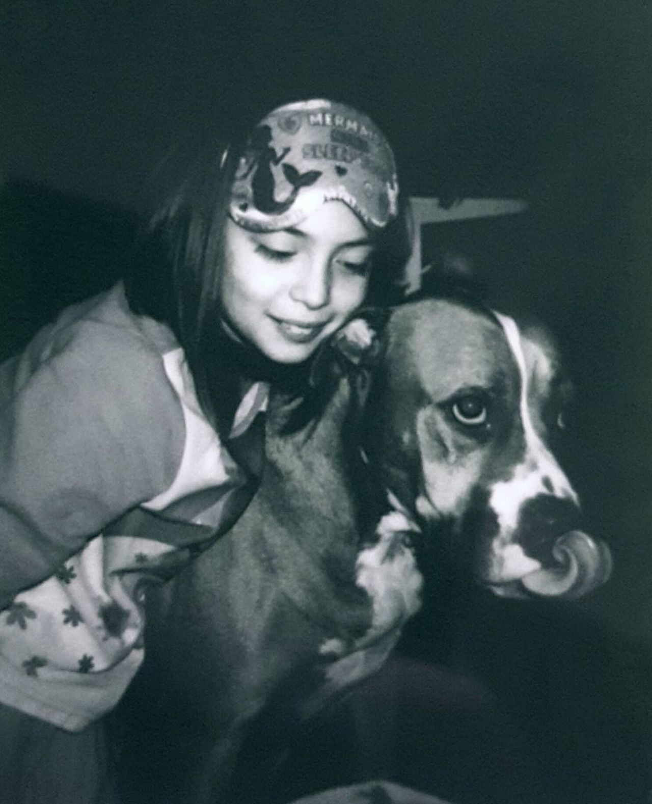 Pets Polaroid Dog Dog❤ Dog Lover Holiday Memories Black & White Kids Being Kids Holiday MerryChristmas Domestic Animals Calm girl Family Shygirl Shyness Shy Dog Tounge Out  Growing Up Joy Life Inocence