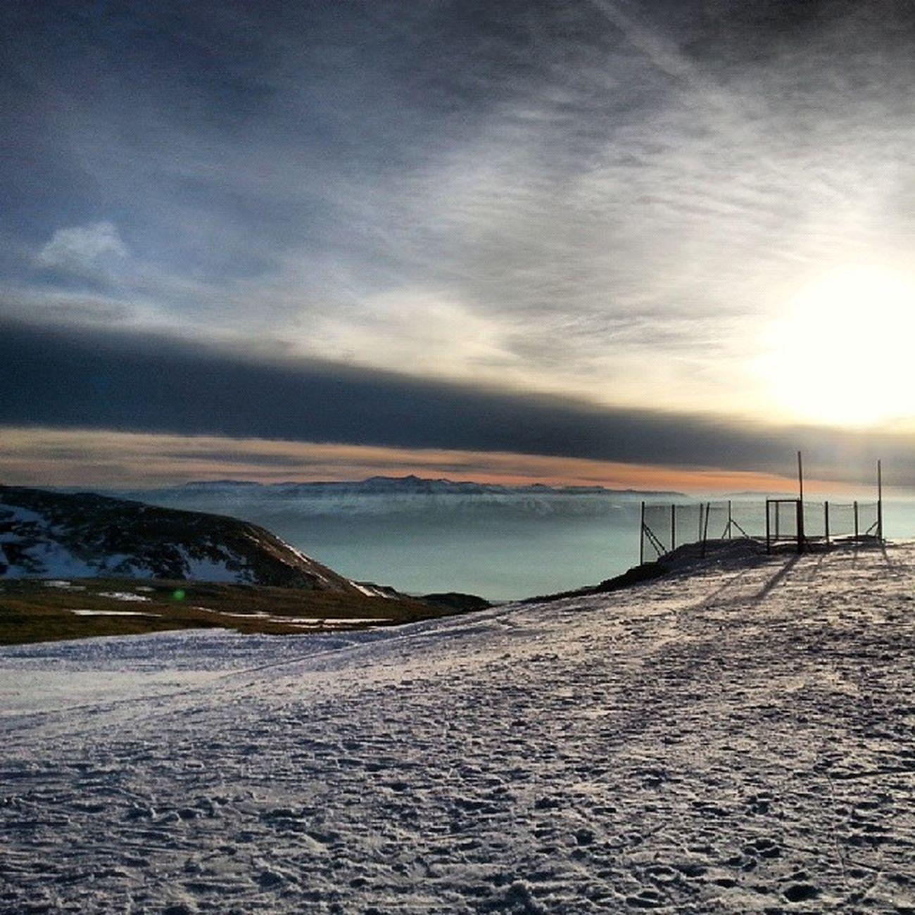 *o* Giornata Snow Sun Sunset pista campo imperatore beautiful day