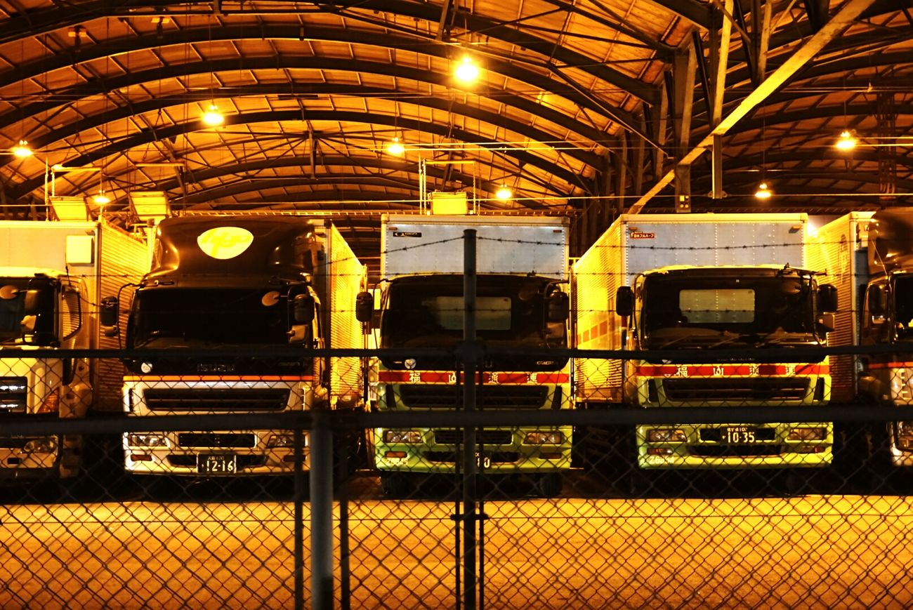 Fukuoka,Japan Truck TruckStop Trucks Trucks🚛🚒🚚⚠ Truck Stop Nightlights Nightphotography Night View Golden