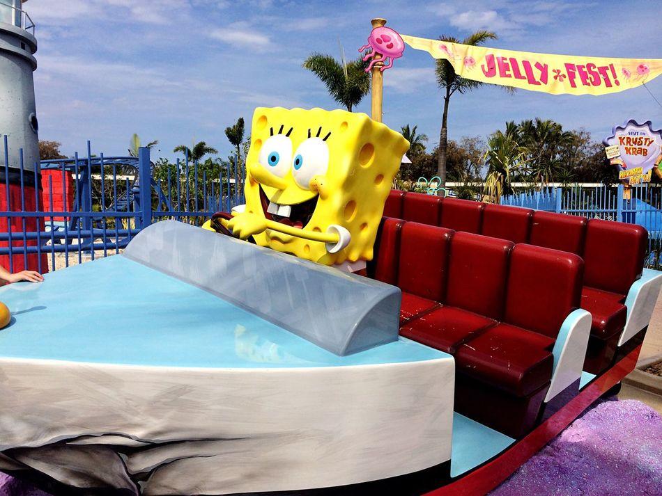 City Sky Day at 黄金海岸 Amusement  amusement park Spongebob♥