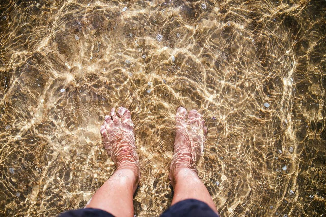Beautiful stock photos of peace, Ankle Deep In Water, Barefoot, Day, High Angle View