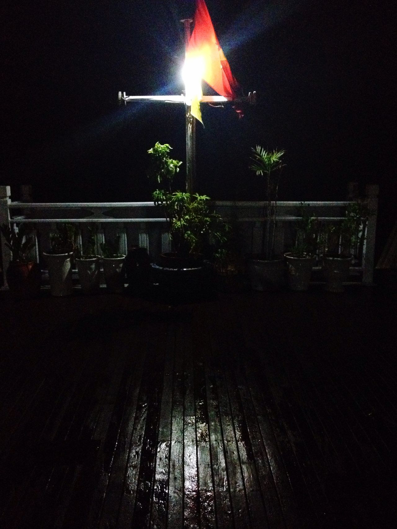 Black Boat Cross Light Night Redflag Shadow Vietnam Water Wood