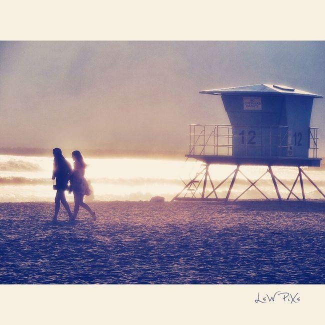 Dusk Beach Town Life Serene Glistening Beach Photography Lifeguard Tower California Coast Oceanside California Dreaming Strollingonthebeach