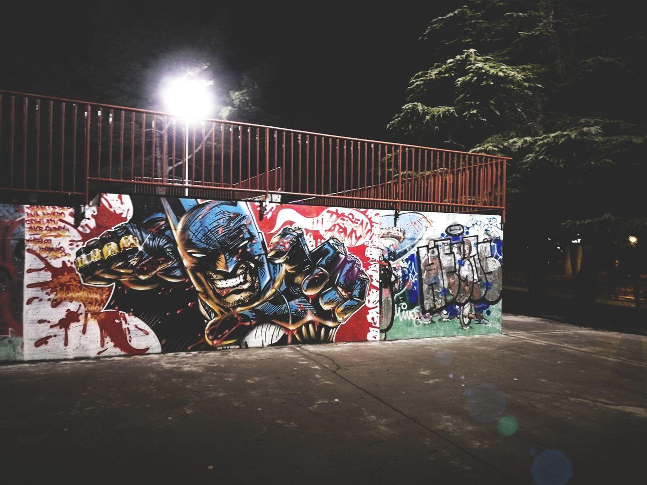 Dark Night 🌝🌚 Illuminated Night Outdoors Cold Temperature Batman Drawing, Painting, Artwork