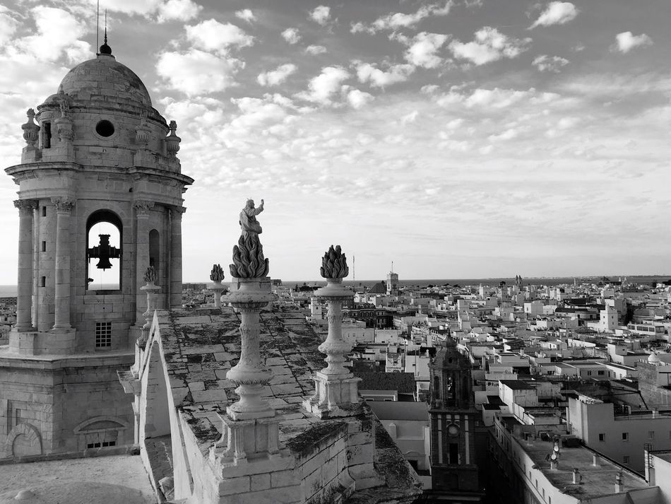 Cadiz Europe Old Cathedral Architecture Built Structure City Religion Skyline Top Tower