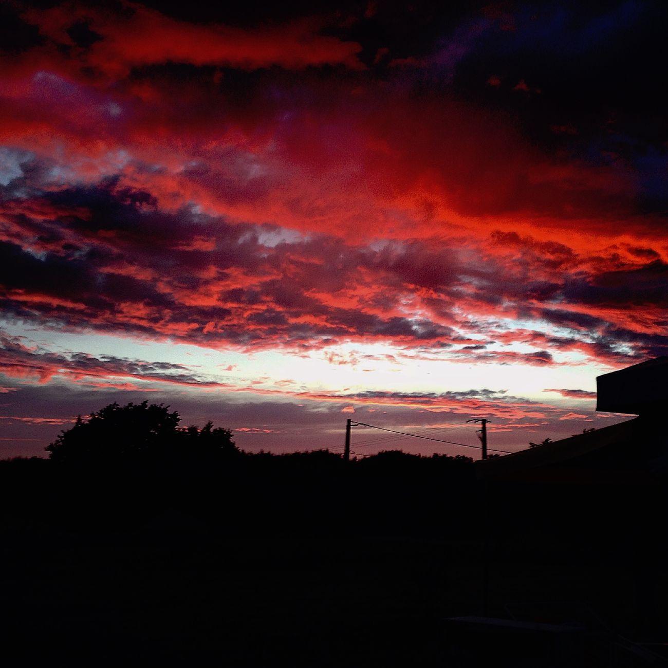 Red sky of La Baule, France La Baule France Sky Red