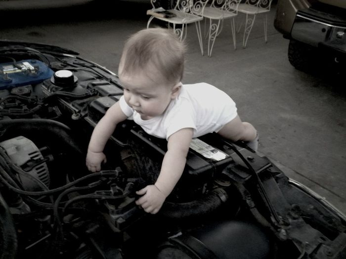 Our little mechanic