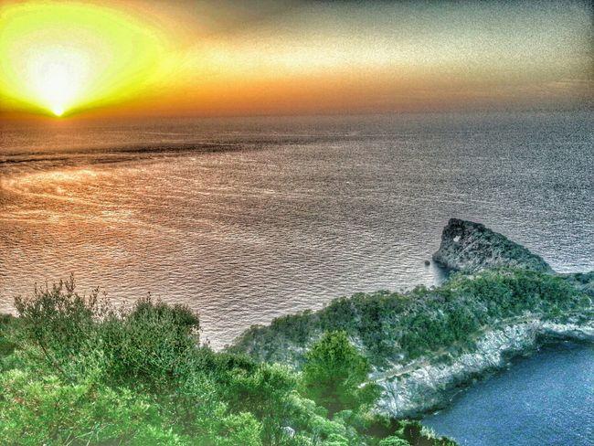 Sunset Sea Landscape Sky