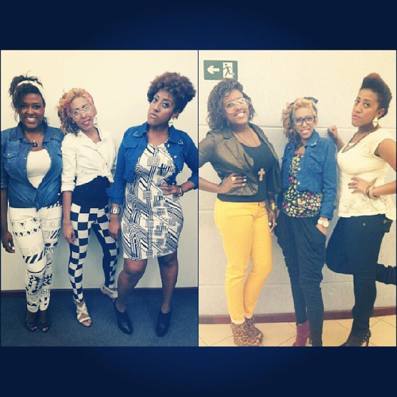 Swaggirls Stylegirls Beautiful Lindas niggaz blackgirls Noiiix causando nos looks do musical :D