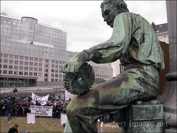 Protest Perspectives Demo gegen Softwarepatente in Brüssel
