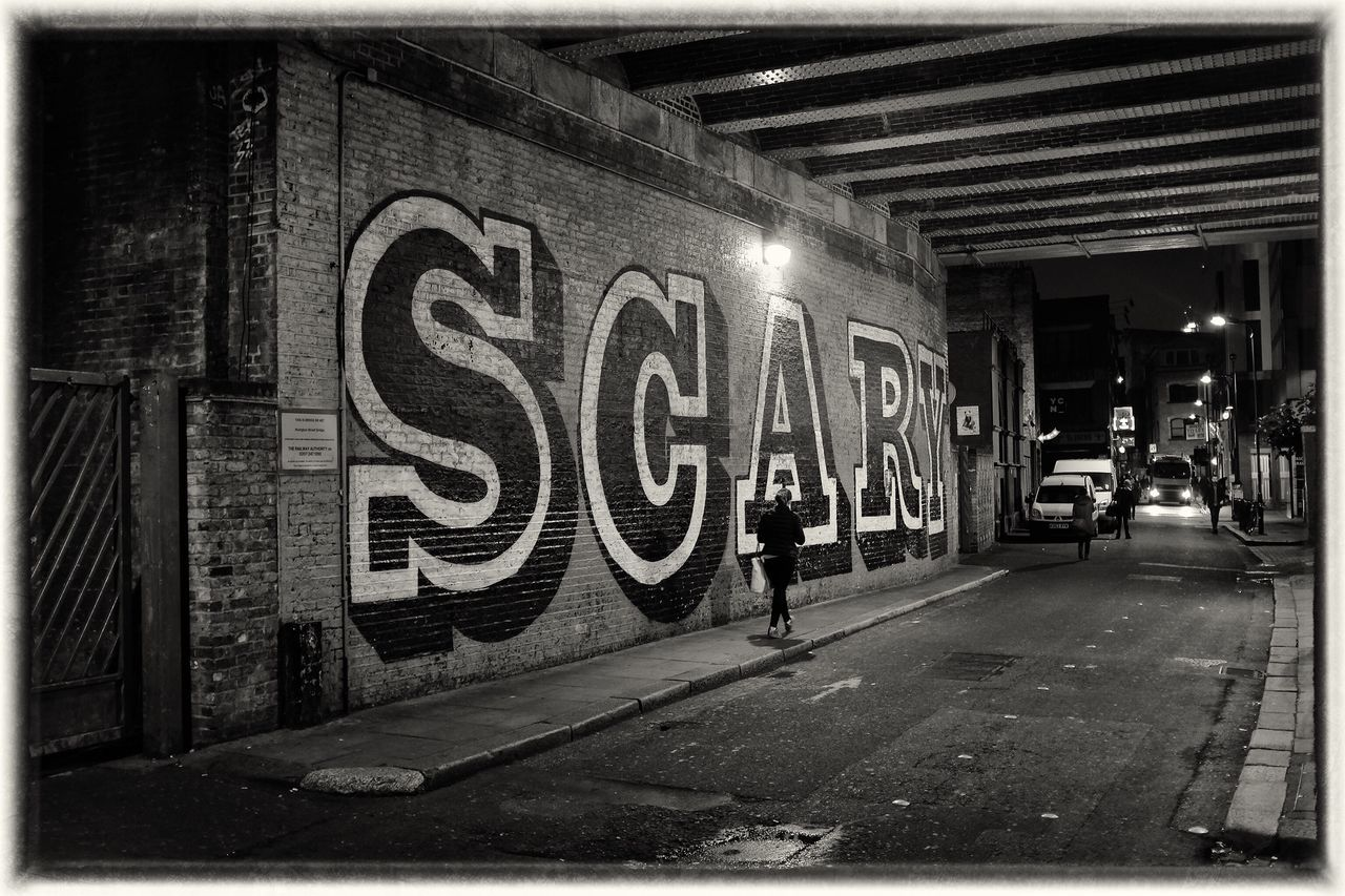 Scary Built Structure Hoxton Graffiti Graffiti Art Film Noir LONDON❤ Streetphoto_bw Halloween Up Close Street Photography