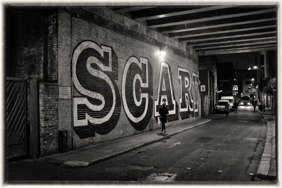 Scary Built Structure Hoxton Graffiti Graffiti Art Film Noir LONDON❤ Streetphoto_bw Halloween Up Close Street Photography