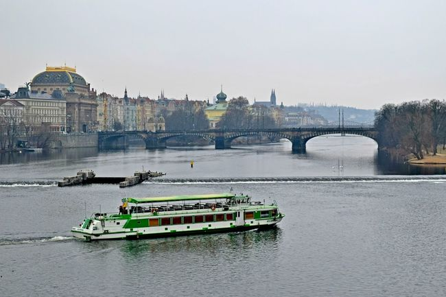 Architecture Bridge - Man Made Structure Building Exterior Built Structure Charles Bridge City Cityscape Day Dome Ferry Going On A Boat Ride Nautical Vessel No People Outdoors Prague Prague Czech Republic River River View Sky Tourboat Tourism Transportation Travel Travel Destinations Water