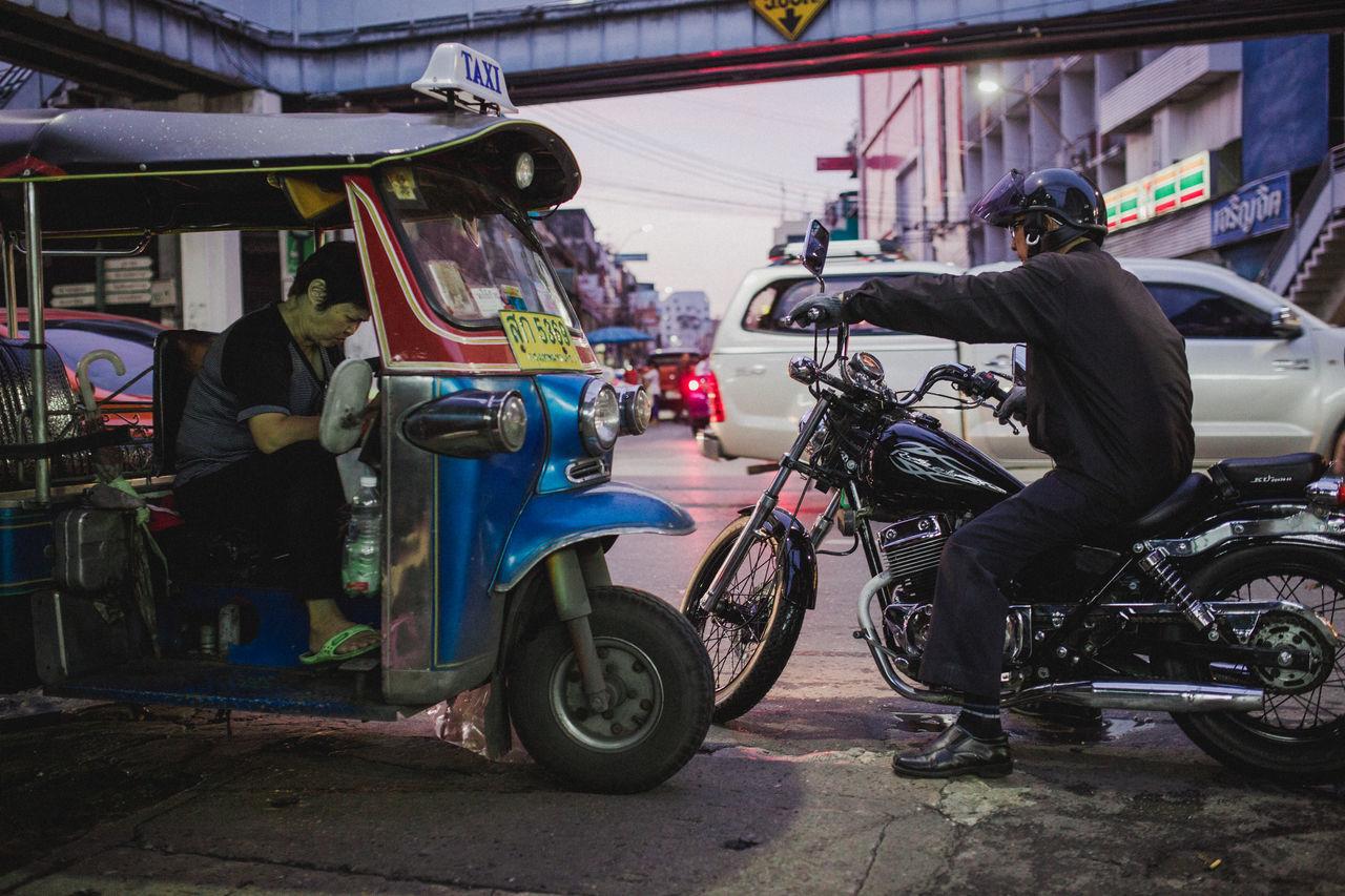Bangkok Chinatown Chinatown Bangkok Chopper Motorcycle Outdoors Street Street Photography Streetphoto Streetphotography Thai People Thailand TukTuk Urban Wheels