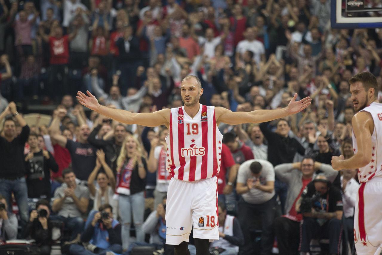 Marko Simonovic (player of Crvena Zvezda mts Belgrade) Basket Basketball Player Crvena Zvezda Mts Belgrade Enjoying Life FC Barcelona Lassa7 Match - Sport Only Men People Sport