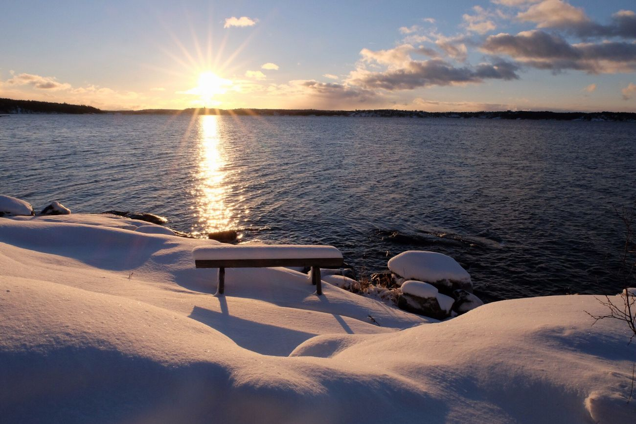 Nature Enjoying Life Beauty In Nature Winter Snow Sunlight Eye4photography  Sweden Stockholm Archipelago Enjoying The Sun
