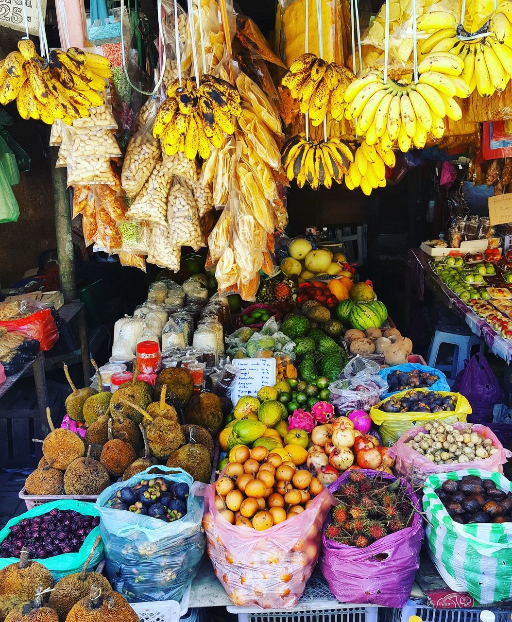for sale, variation, choice, retail, market, market stall, large group of objects, abundance, food, freshness, multi colored, food and drink, fruit, outdoors, day, healthy eating, no people, arrangement, price tag