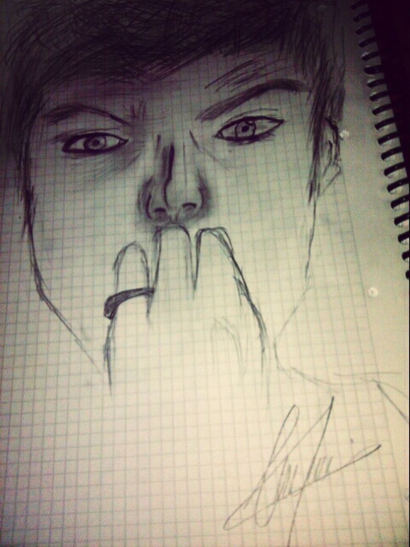 Drawing My Husband Blackandwhite Sevdiğim♡