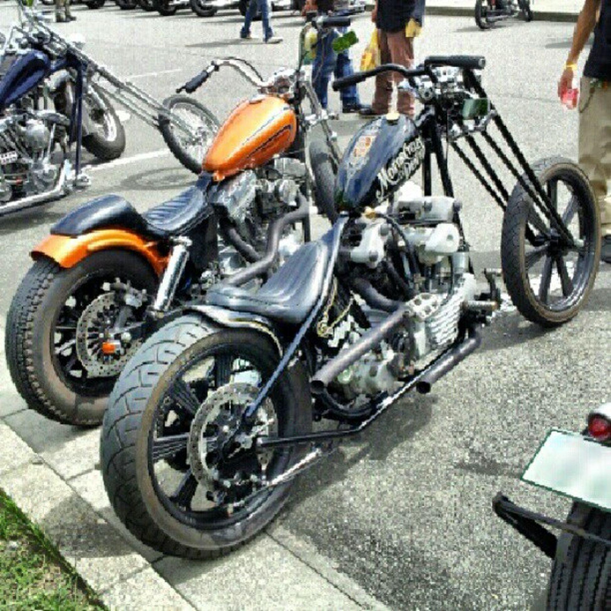 superweekend parking Harleydavidson Knucklehead Sportser Chopper bobber