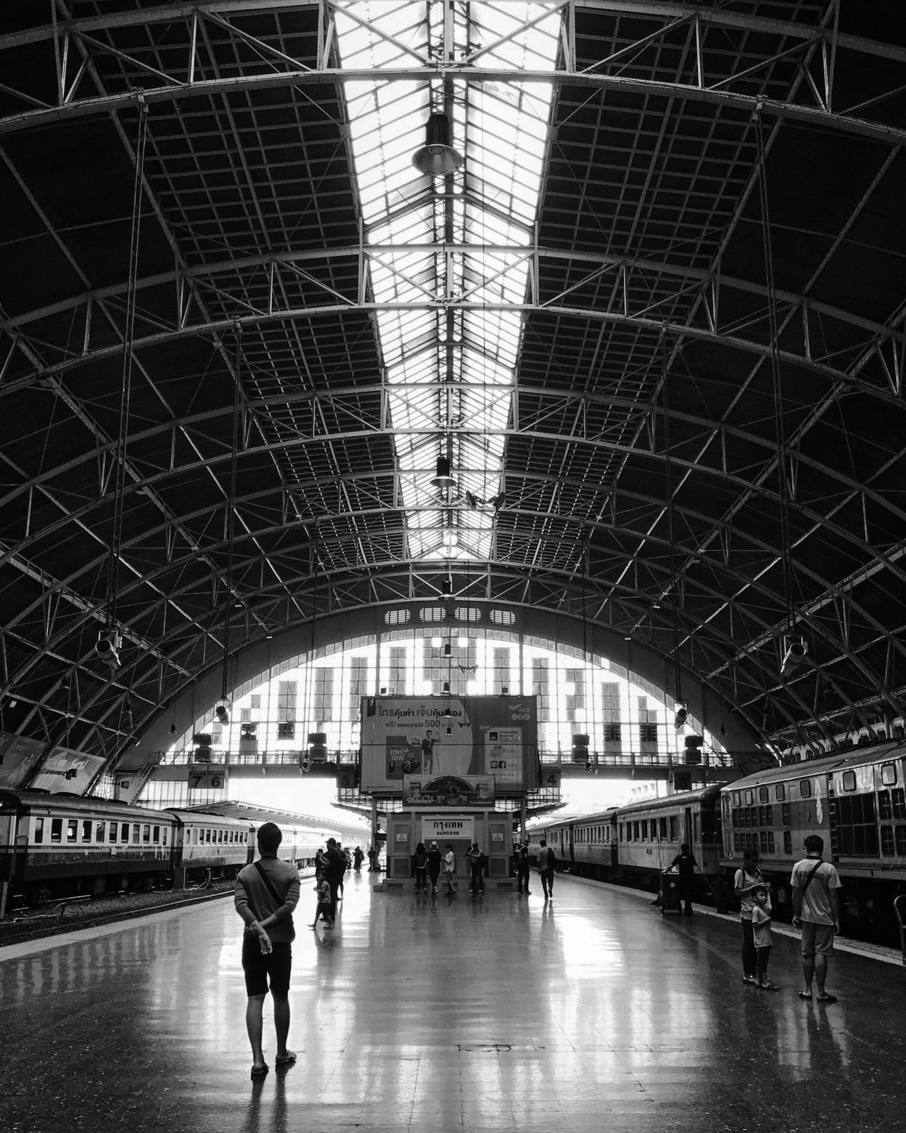Bangkok Railroad Station Travel Bw_collection Black And White Street Photography Blackandwhite Monochrome