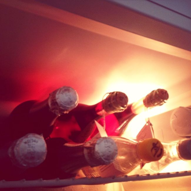 The frigidaire is glowing... It's almost party time!