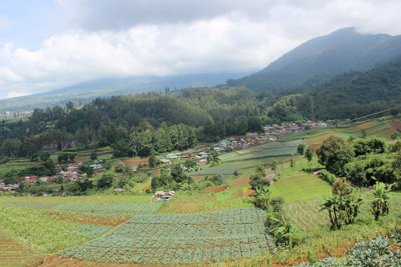 Landscape Mountain Range Nature Sky View Of The Town Village