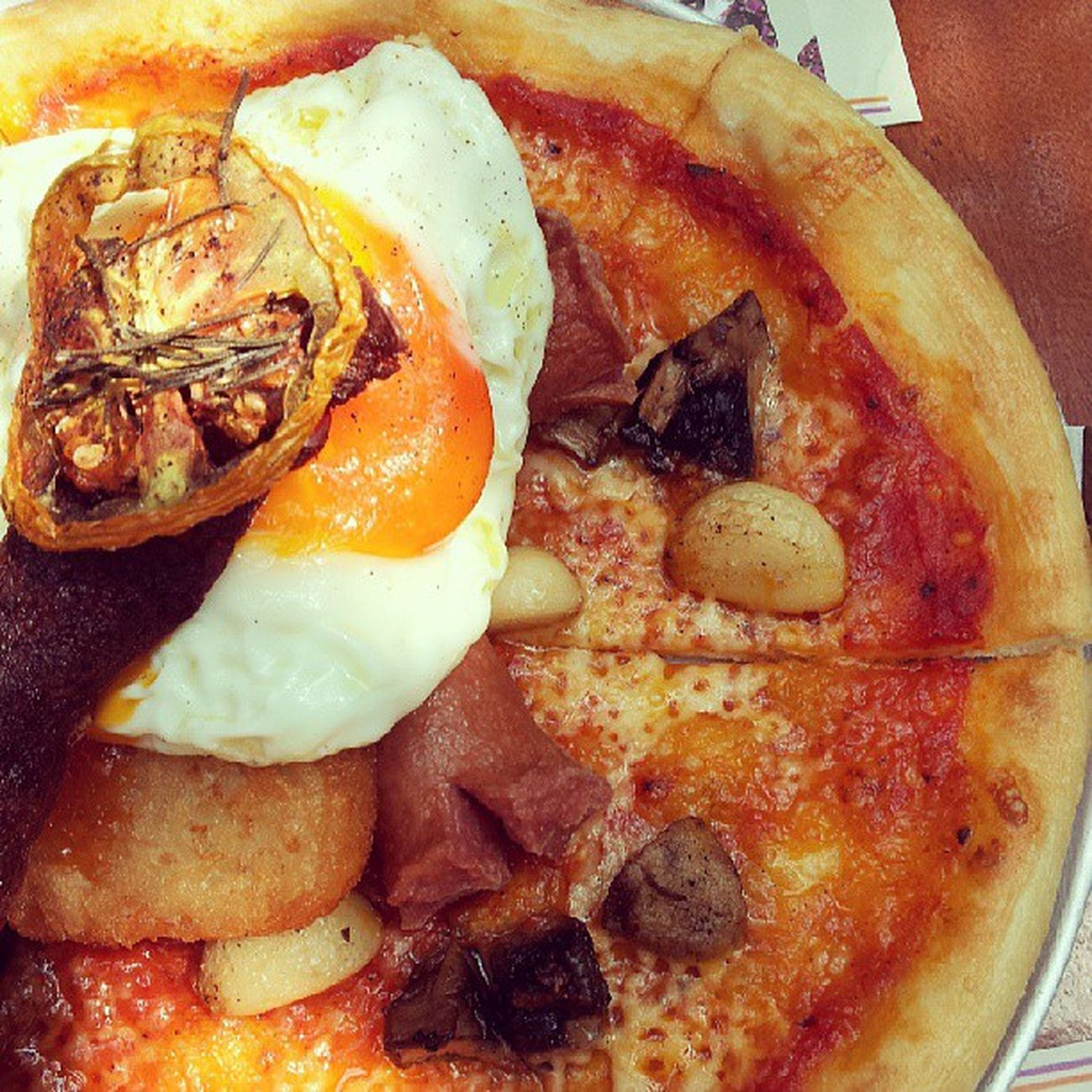 Big breakfast Brunch Pizzaebira Kitchenette Loveit pizza
