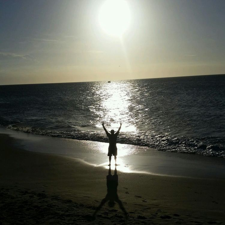 Margaritaisland Enjoying Life Beach Back Light