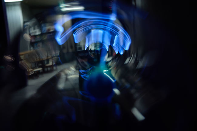 Abstract Blurred Motion Close-up Dark Electro EyeEm Best Shots Focus On Foreground Illuminated Light Lighting Equipment Motion Science Science Museum  Selective Focus