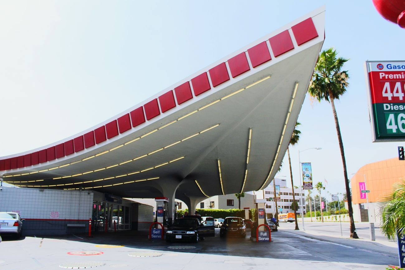 Gas Station Cars Rodeodrive Beverly Hills Angle La