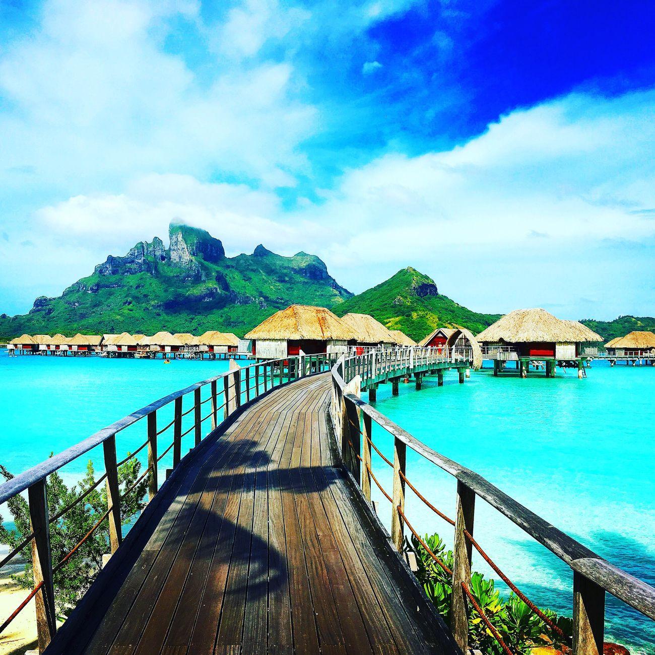 Tranquil Scene Sea Beauty In Nature Nature Outdoors Bora Bora  First Eyeem Photo