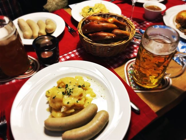 Food And Drink Food Indoors  Plate Ready-to-eat Freshness Table Indulgence Close-up Temptation Meal Serving Size Food Styling Appetizer Dessert Serving Dish Lunch Wurst Weisswurst Bayern Germany