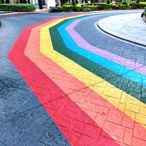 Architecture Colorful No People Roundabout Rainbow Orlando Florida Brick Road Orlandostrong
