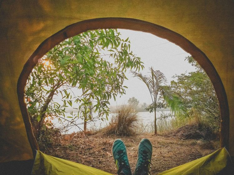 🏕️ Camping Morning 🌅 Camping Adventures Letsstartadventures Camp Travel Meusviews Journeyphotography Uandvworks Photography Blog Travelmore Journey Savemore Milestone River Riverside Trekking Tentview