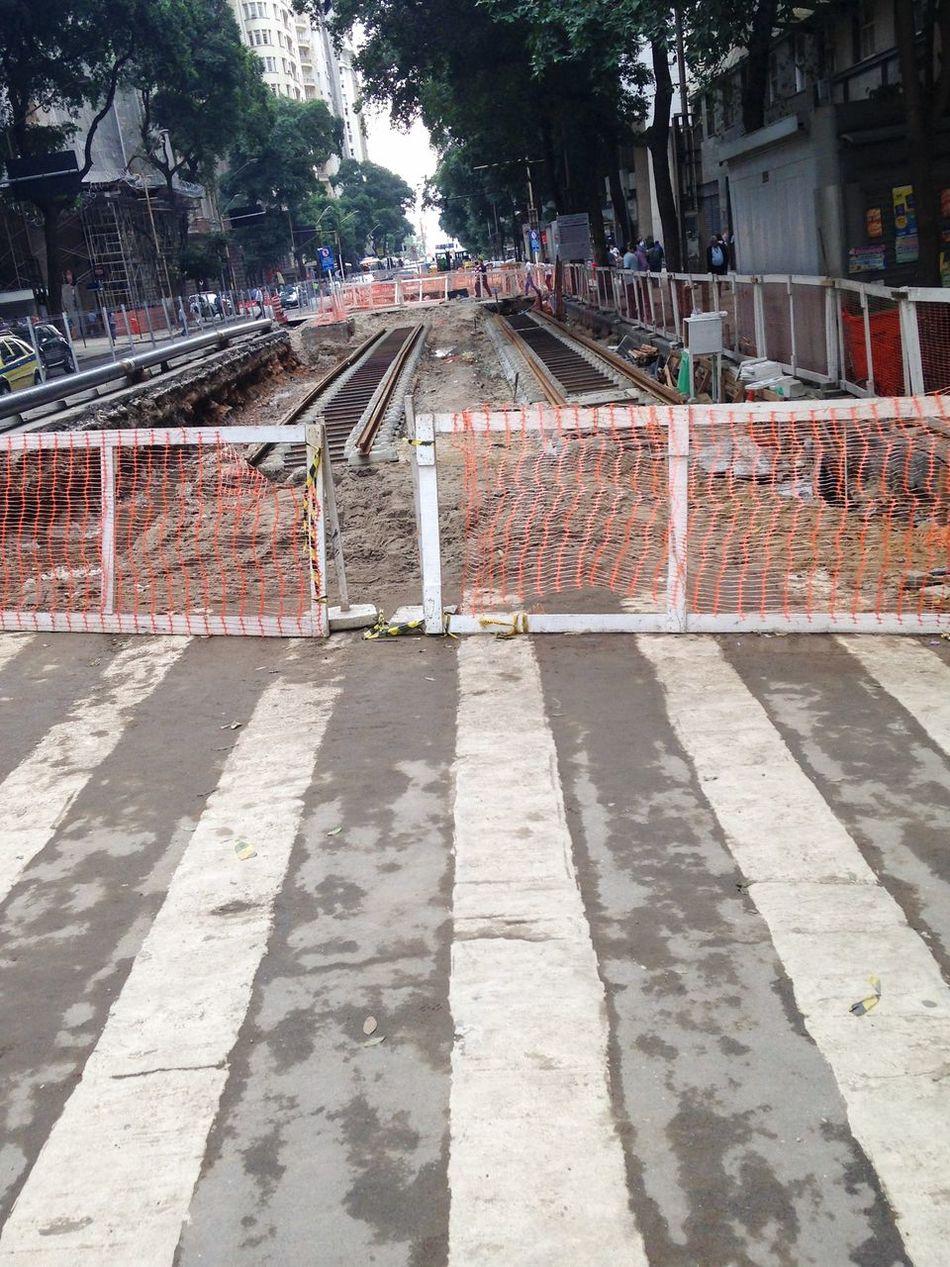 Obras do Vlt Veículo Leve Sobre Trilhos Avenida Rio Branco Centro Rio De Janeiro Transporte