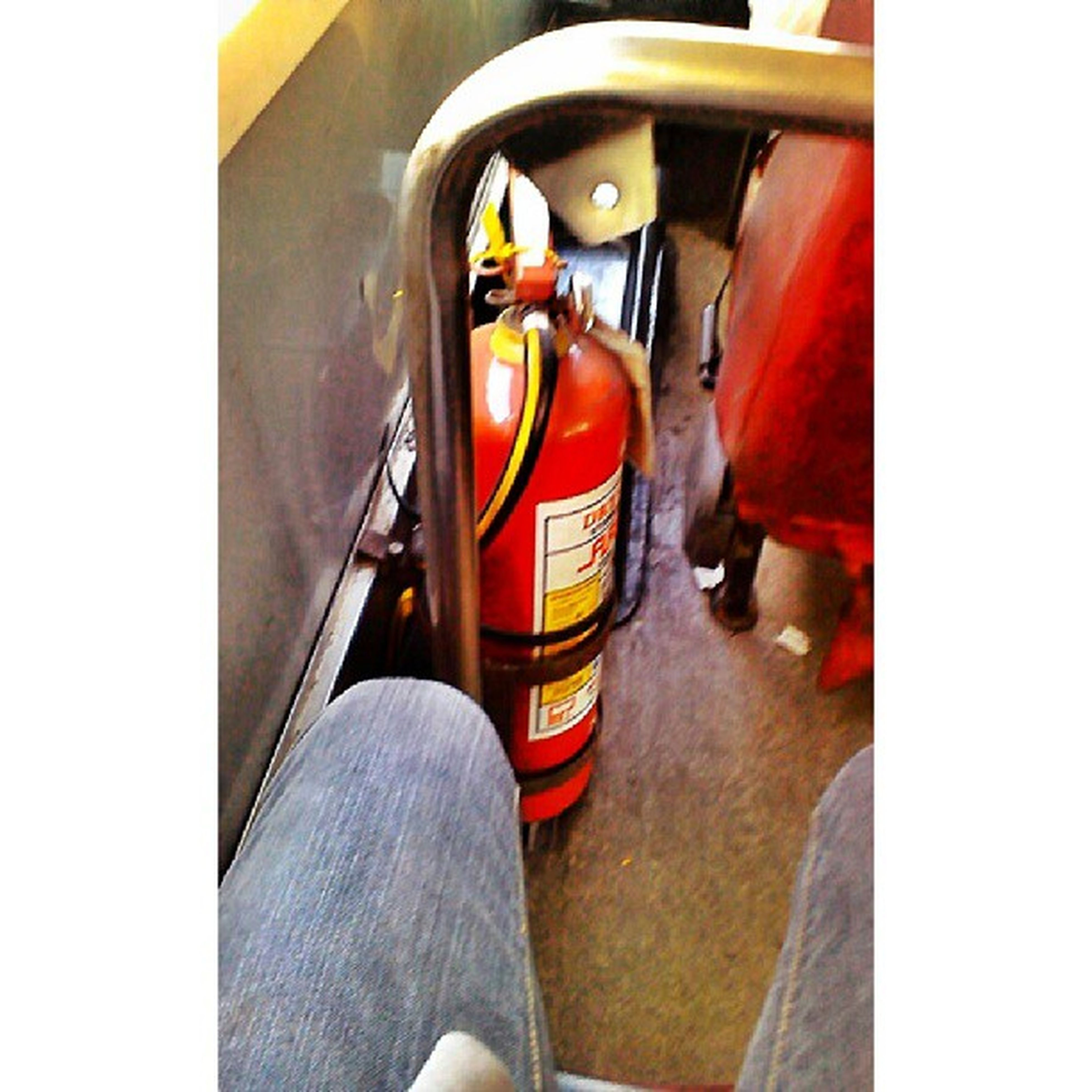 Rarely you would see a bus having a fire extinguisher. All buses should have this. MarikinaAutoLine Northbound