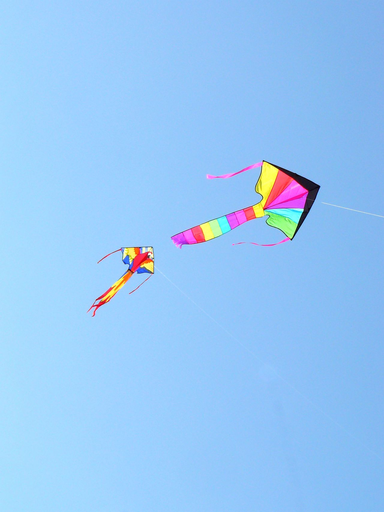 Flying Free_Rondeau, Erieau {Ontario] ~ Blue Childhood Clear Sky Copy Space Day Erieau Flying Flying A Kite Flying High Flying In The Sky Fun Kite Kite - Toy Kite Flying Low Angle View Mid-air Multi Colored Nature No People Ontario, Canada Outdoors Rondeau Sky The Great Outdoors - 2017 EyeEm Awards Toy