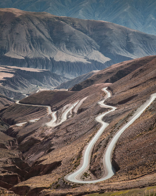 a long and winding road Argentina Jujuy, Argentina Landscape Road Outdoors Nature Mountain Scenics No People Winding Road High Angle View
