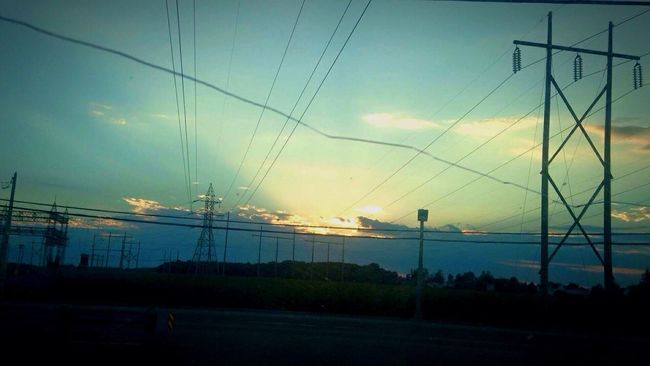 Summertime 🌞 Beautiful Nature Sky_collection Ontheway Cloudscollection Skycollection Country Clouds And Sky Electric Tower