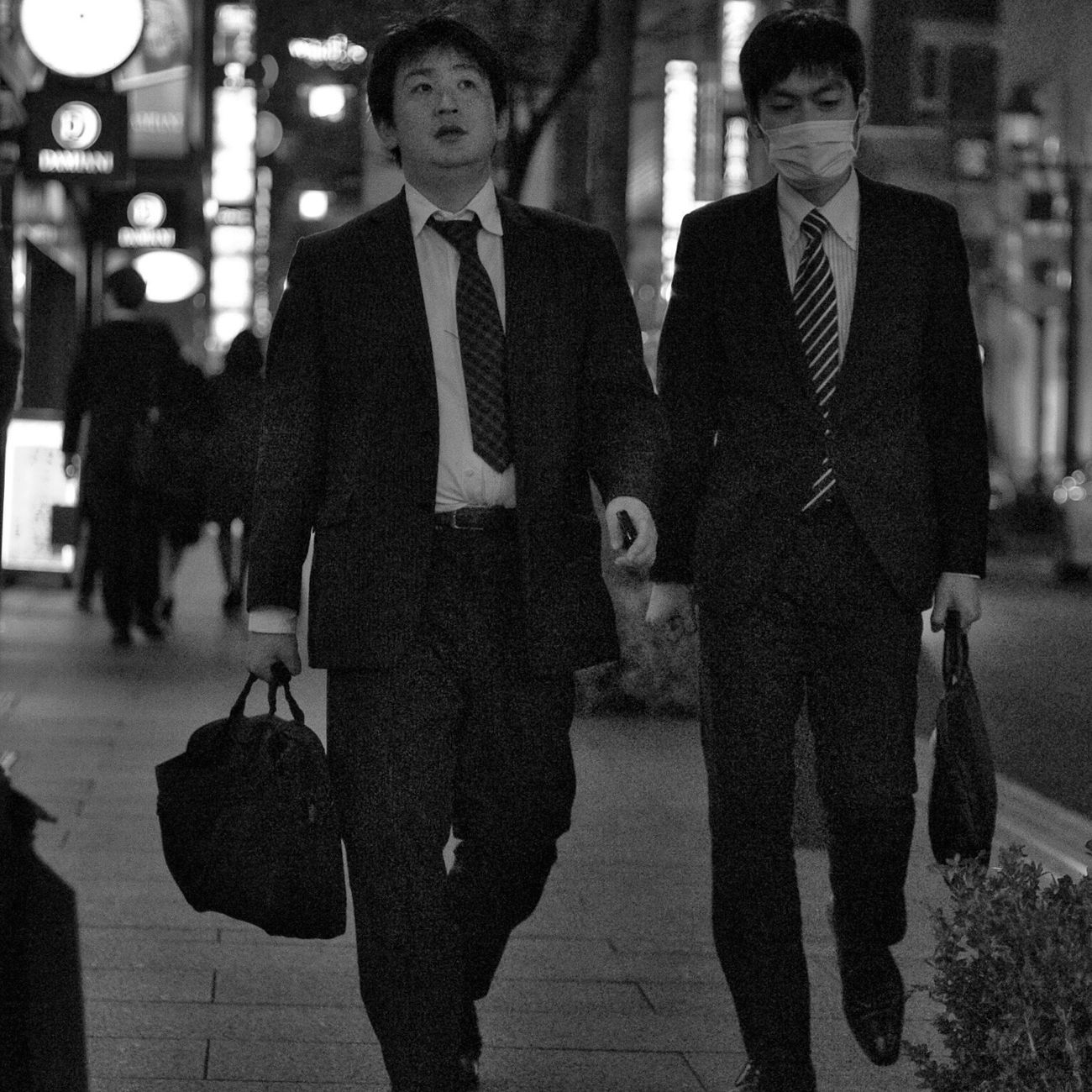 Full Suit Night Businessman Suit People City Life Nightphotography Snapshot On The Road CityWalk Streetphotography_bw B&w Street Photography at Toranomon 虎ノ門 , Tokyo Japan