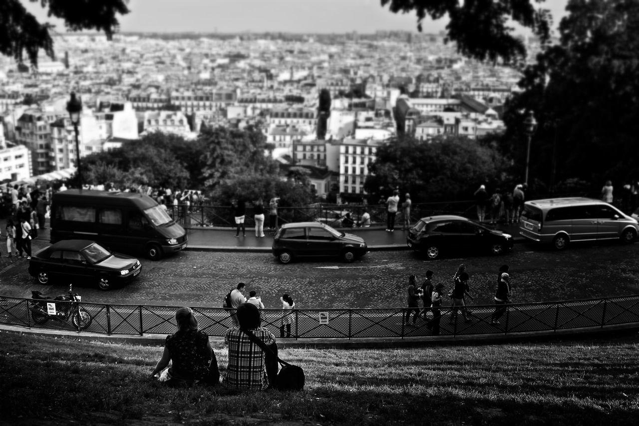 Bw Paris Cityscape Overlooking Paris