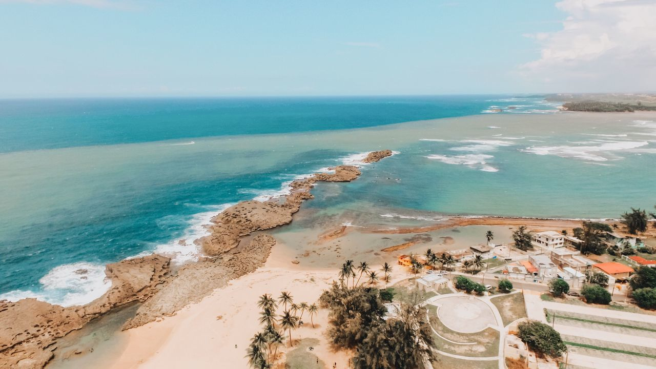 Puerto Rico Sea Water Horizon Over Water Scenics Nature Beauty In Nature Beach High Angle View Sky Tranquil Scene Day Outdoors Tranquility No People Sand Tree Aerial Photography Drone Photography Aerial View Aerial Shot Island Ocean View The Great Outdoors - 2017 EyeEm Awards
