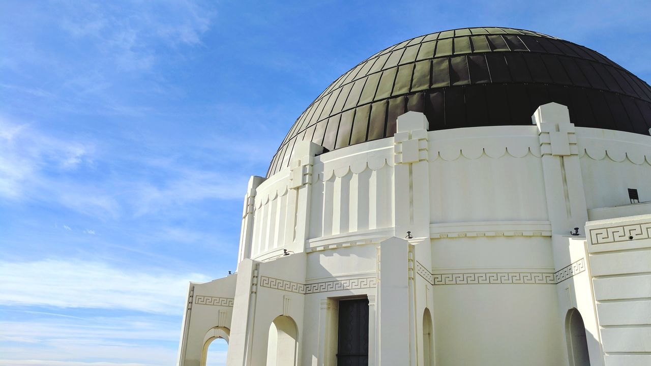 Dome Architecture Observatory Griffith Observatory Griffith Park Losangeles Los Angeles, California Sky Sky And Clouds
