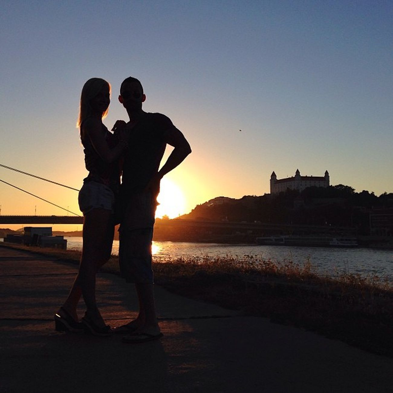 Spectacular #sunset in #Bratislava with #silhouettes of my younger bro filipbrutenic and his lovely wife mimibrutenic ?☀️☀️☀️#allshots_ #bridge #castle #colorful #dotz #capture_today #citybridges #from_city #gang_family #gramoftheday #iccity #ic_cities #o Allshots_ Ic_cities Summer Gramoftheday Sunset Bridge O2travel Silhouette Photowall_silhouette Castle Kewiki_silhouette Capture_today Loveyoursummer Silhouettes Top_masters Colorful From_city Photowall Pro_shooters Bratislava Iccity Slovakia Citybridges Gang_family Dotz Bratislava_castle