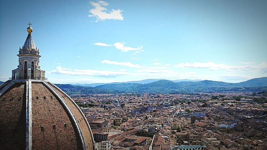 Cityscape Architecture City Sky Blue Travel Destinations No People Outdoors Building Exterior Day Urban Skyline Santa Maria Del Fiore, Florence Cupolasantamariadelfiore Architecture Florence, Italy Florence EyeEmNewHere