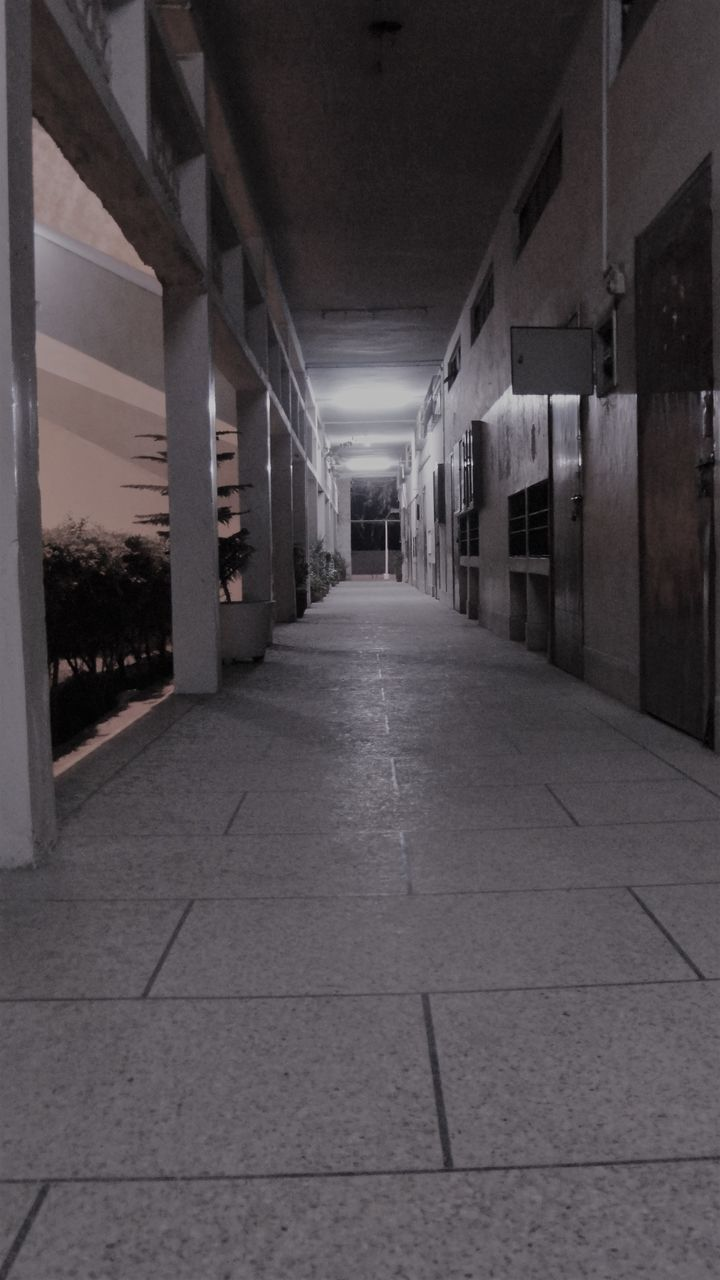 the way forward, architecture, diminishing perspective, corridor, built structure, indoors, no people, illuminated, day